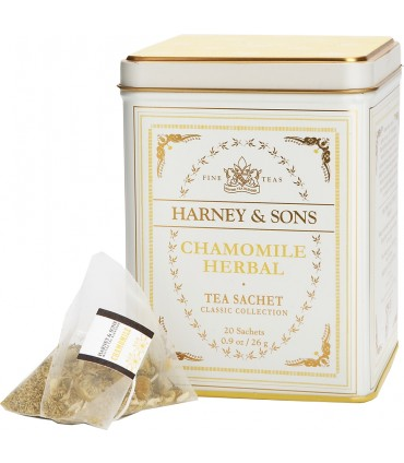 Harney & sons Heřmánek, Klasická kolekce 20 hedvábných pyramidových sáčků